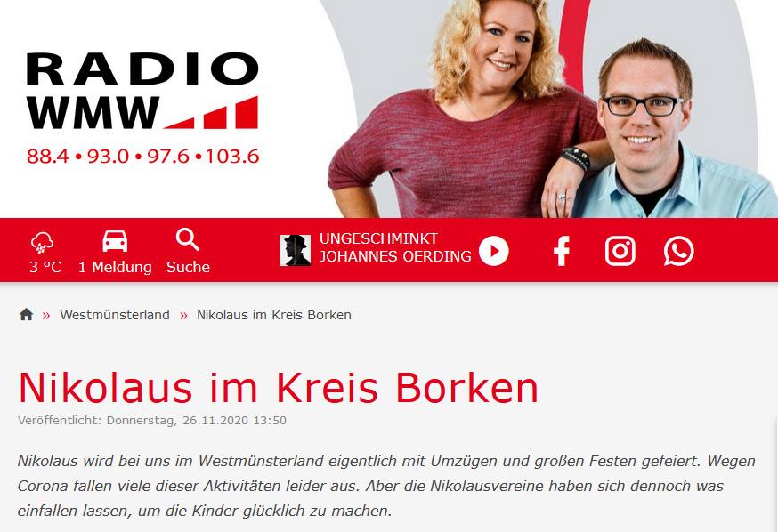 RADIO WMW | Radiobericht zum Nikolaus 2020